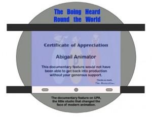 UPA Documentary Certificate