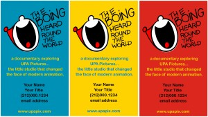 "Sample of ""The Boing Heard Round the World"" business card."